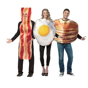 Breakfast Costumes Trio Set - Bacon, Eggs, and Pancakes