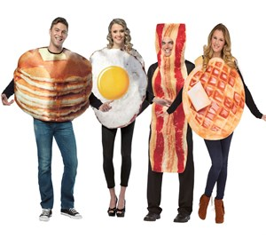 Breakfast Costumes Set - Bacon, Eggs, Pancake, Waffle