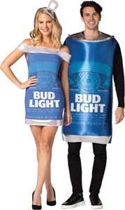 Bud Light Can Tunic & Dress Couples Costume