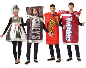 Candy Costumes Set - Hershey, Reese's, Twizzler, Hershey's Kiss