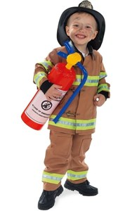 Child's Tan Firefighter Costume