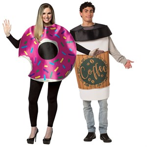 Coffee and Donut Costumes Set