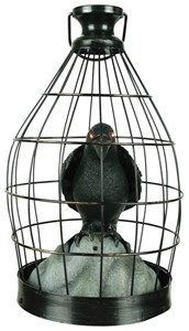 Crow In Cage Animated Prop