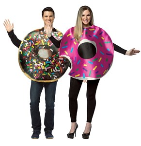 Donut Couples Costumes Set - Chocolate & Strawberry