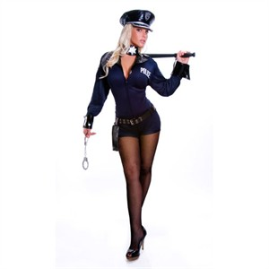 Sexy Police Officer Costume - 1 pc