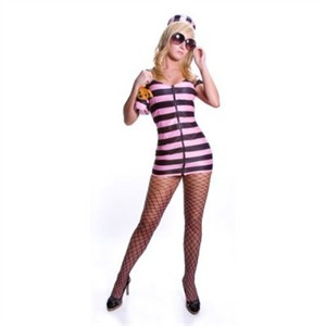 Sexy Prison Costume - Pink Stripes