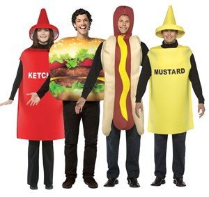 Fast Food Costume Set - Burger, Hot Dog, Ketchup, Mustard