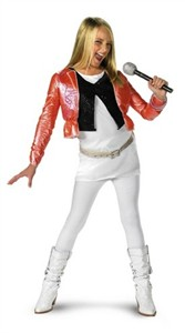 Child Deluxe Hannah Montana Costume with Pink Jacket