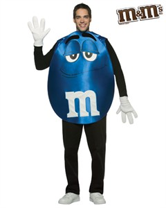 Adult Blue M&M'S Character Poncho Costume
