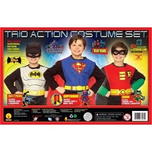 Child Superman, Batman and Robin Costume Set