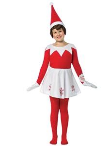 Girls Elf On the Shelf Dress 7-10