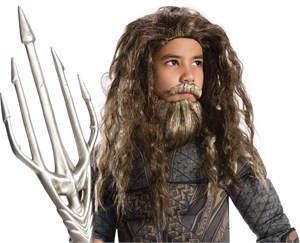 Kids Aquaman Beard and Wig Set