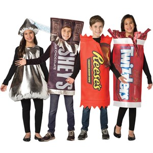 Kids Candy Costume Set - Hershey Bar, Reese's Cups, Twizzlers, Hershey's Kiss