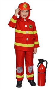 Kids Deluxe Fire Fighter - Red