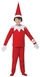 Kids Elf on the Shelf Costume 7-10