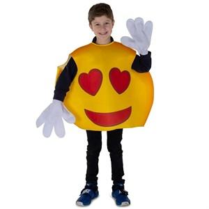 Kids Hearts Smiley Emoji Costume