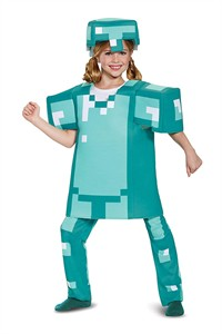 Kids Minecraft Armor Deluxe Costume