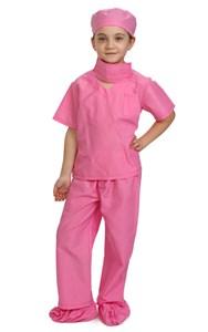 Kids Pink Scrubs Costume