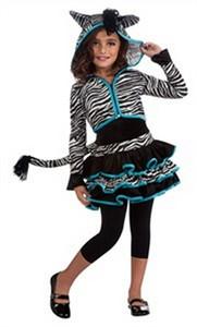 Kids Zebra Hoodie