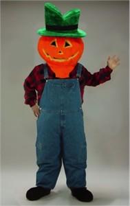 Jack-O-Lantern Mascot Head