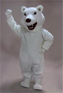 Scary Polar Bear Mascot Costume
