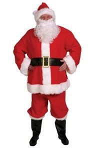 Men's 10-Piece Complete Santa Suit