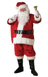 Men's Deluxe Plush Regency Santa Costume