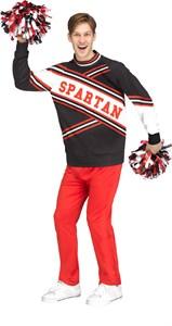 Men's Deluxe Spartan Cheerleader Costume