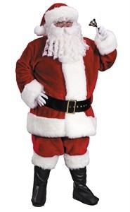 Men's Plus Size Premium Plush Red Santa Suit