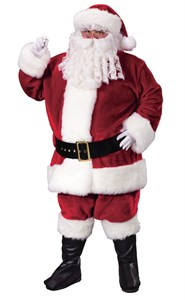 Men's Santa Suit Premium Plush Crimson
