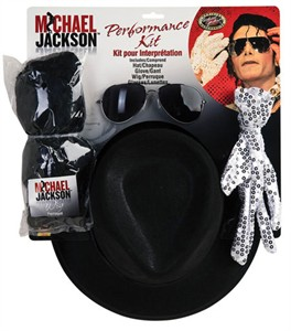 Michael Jackson Performance Kit- Wig, Glove, Hat, Accessories