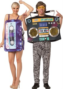 Mix Tape Dress And Boom Box Couples Costume