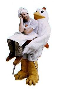 Adult Chicken Illusion Costume