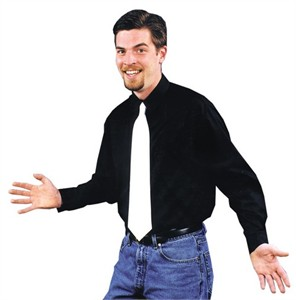 Adult Black Gangster Costume Shirt
