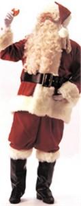 Adult Deluxe Velvet Santa Suit Costume