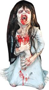 Animated Dead Debbie Spitting Halloween Prop