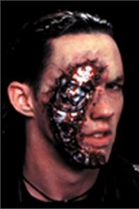 Adult Cyborg Latex Face Appliance Makeup