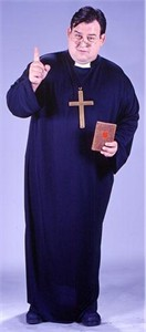 Adult Plus Size Priest Costume