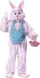 Adult Bunny Costume with Overhead Mask