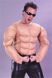 Adult Muscle Chest Costume