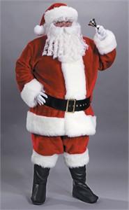 Adult Premium Plush Red Santa Suit Costume