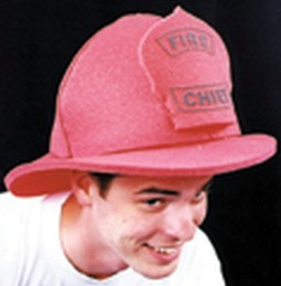 Adult Foam Fire Fighter Hat