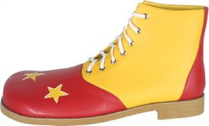 Men's Clown Shoes with Stars