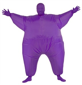 Purple Inflatable Skin Suit Costume