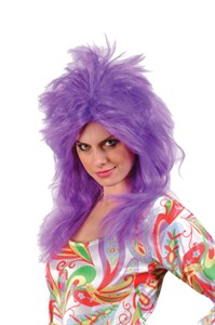 Feathered Glam Wig - Purple