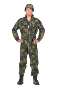 Teen Camouflage Soldier Costume