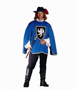 Adult Musketeer Costume - Blue