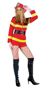 Adult Sexy Fire Fighter Costume - Romper