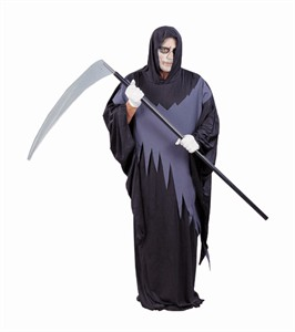 Adult Plus Size Deluxe Grim Reaper Costume