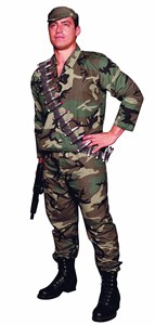 Adult Plus Size Military Costume